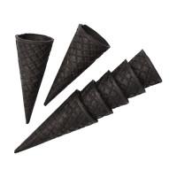 Сахарный вафельный рожок Черный, ровный край. 110 мл. 320 шт
